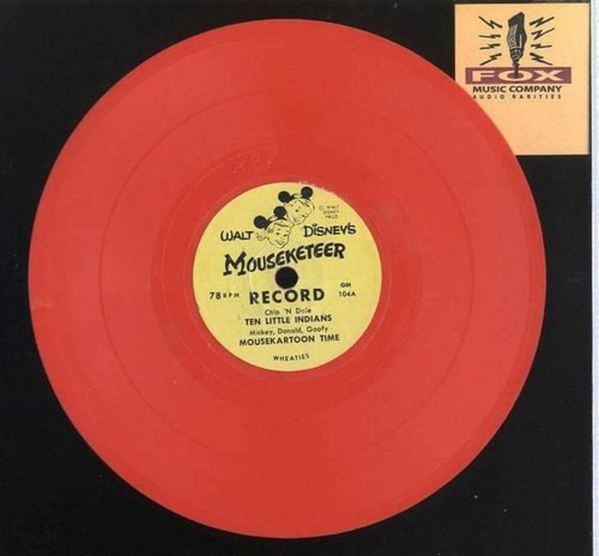 Walt Disneys Mouseketeer Record GM 104 Orange Vinyl 78 rpm Record