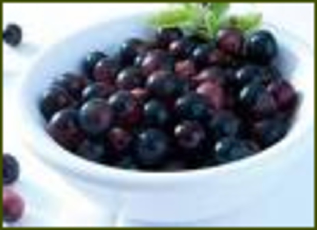 Acai Juice comes from berries in the Brazilian Amazon.