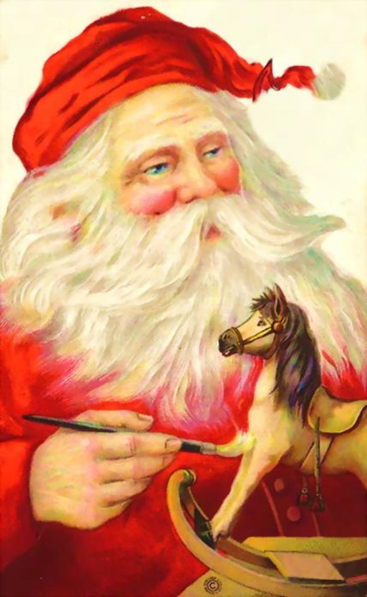 Vintage Santa graphics: Santa gets creative