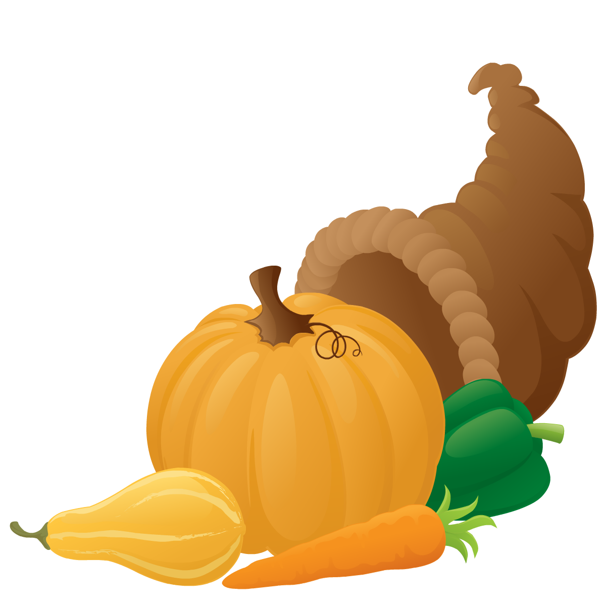 Thanksgiving cornucopia clip art