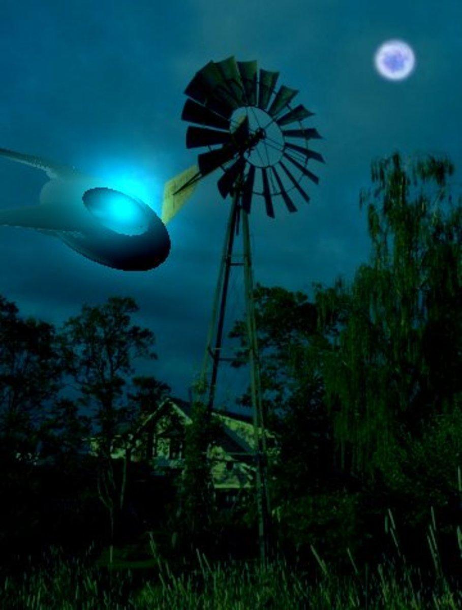 UFO Strikes Windmill In Aurora Texas