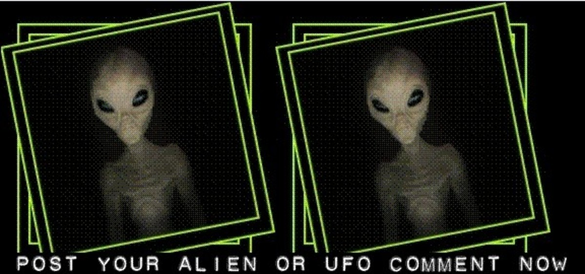 Why Not Post A Comment Now. Do You Believe In Aliens and UFO's?