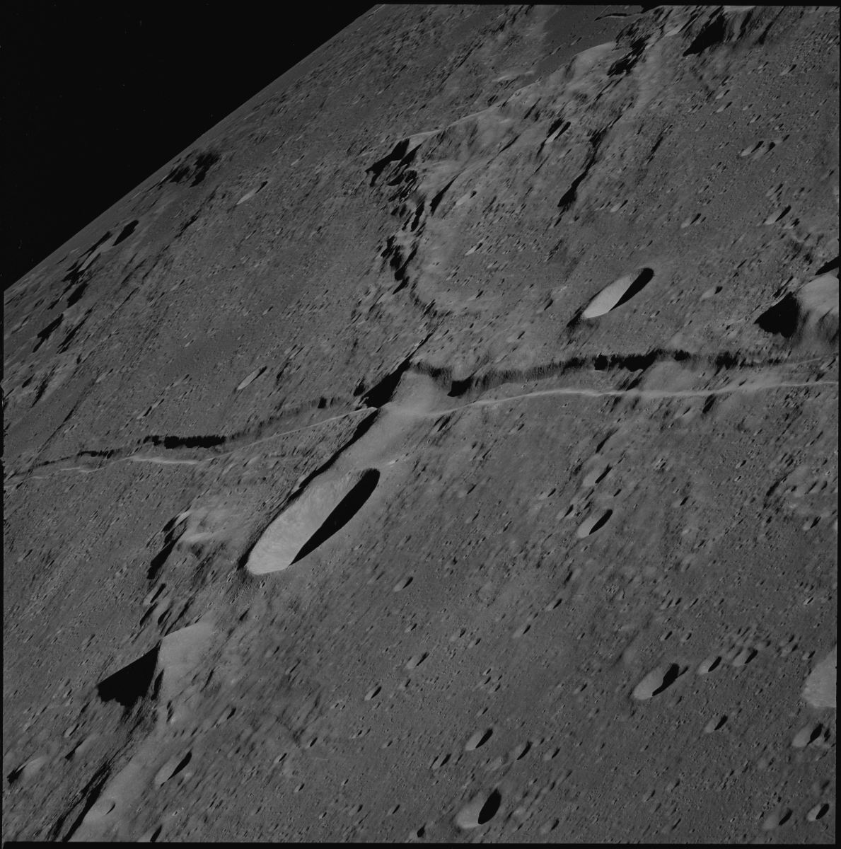 What made this strange trail across the moon.