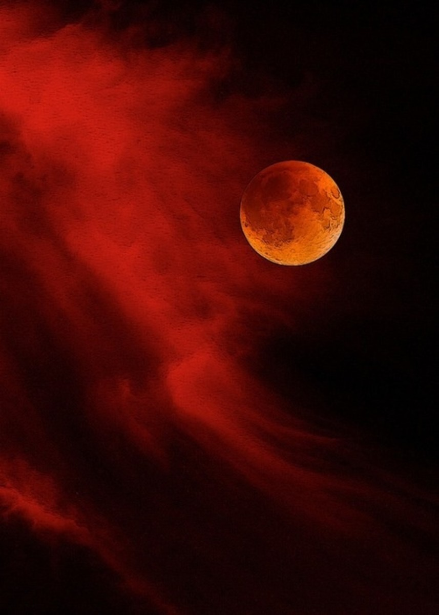 Artist Drawing Of The Blood Moon