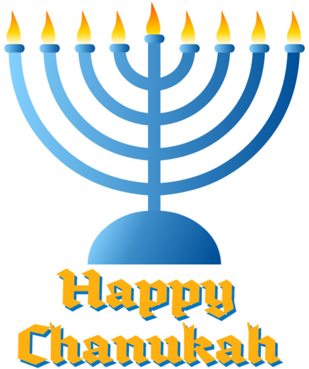 Chanukah art: menorah