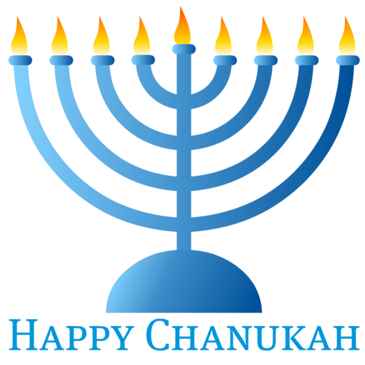 Chanukah art: menorah
