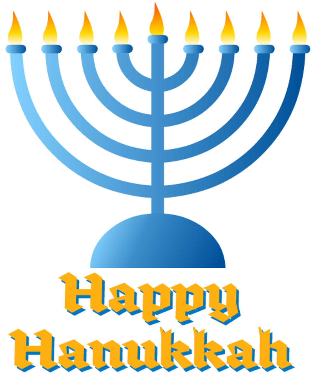 Hanukkah cards: menorah