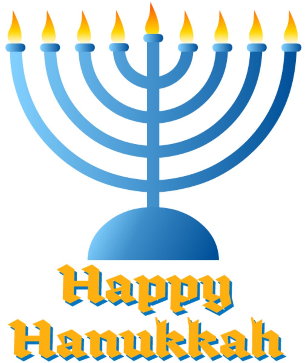 Hanukkah cards: menorah