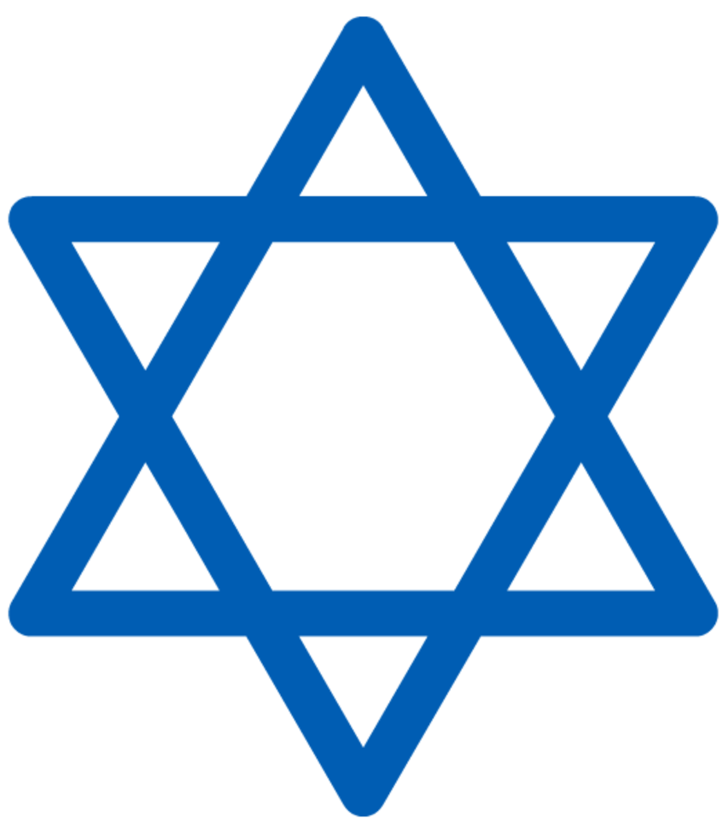Hanukkah symbols: star of David