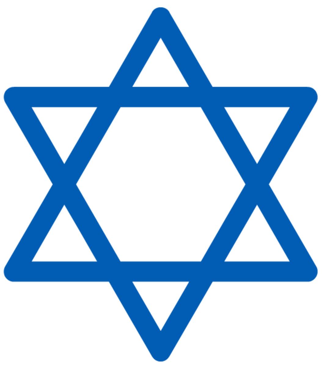 Hanukkah symbols: star of David