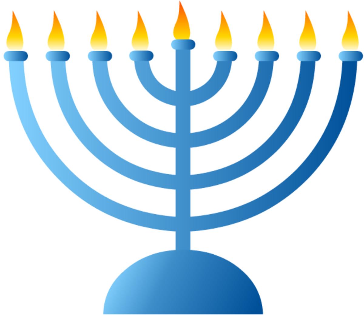 Hanukkah symbols: menorah