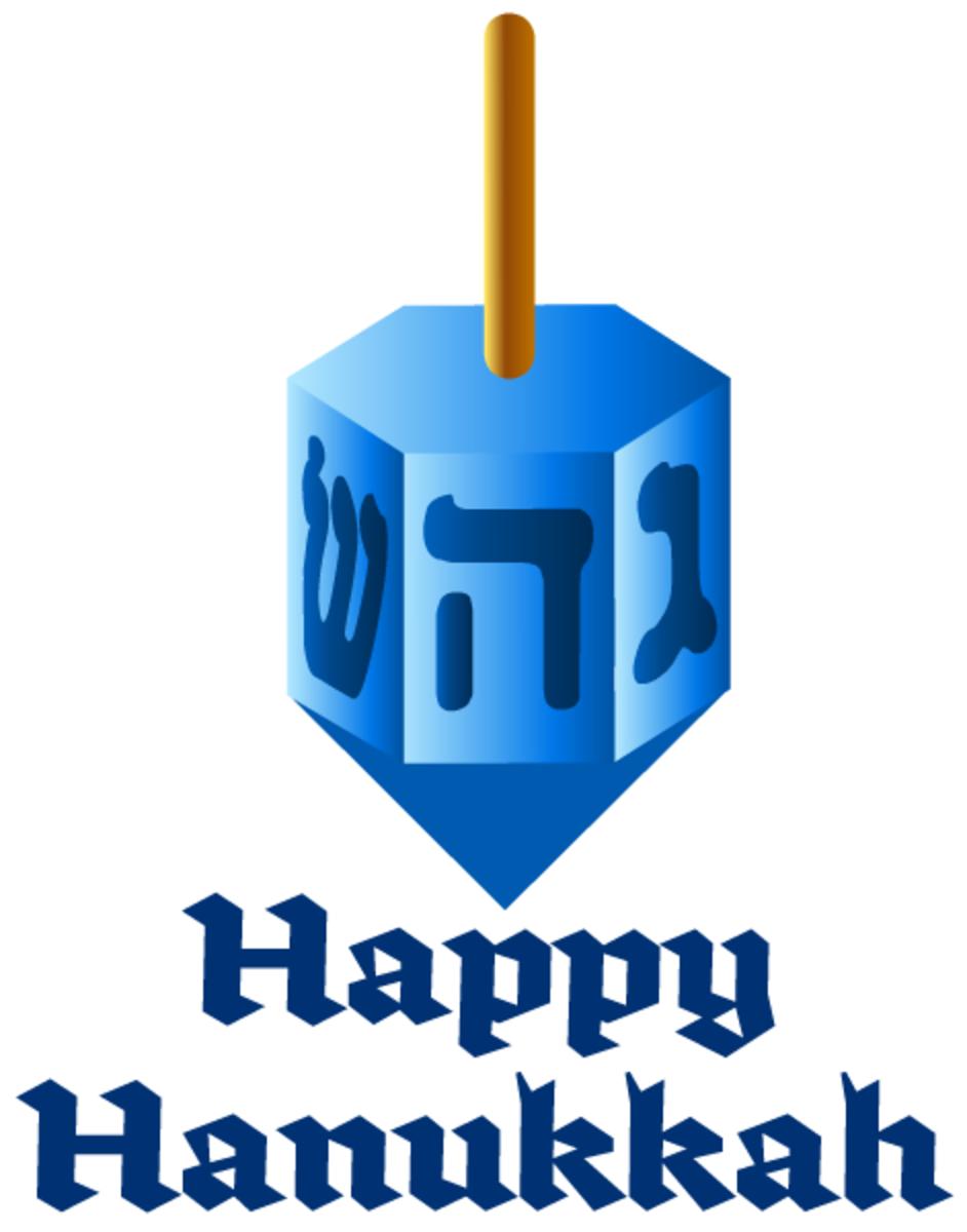 Hanukkah cards: dreidel