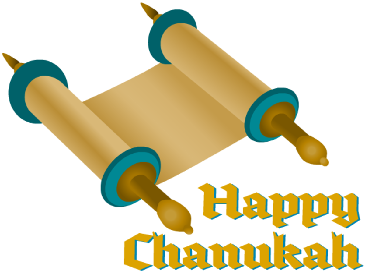 Chanukah art: Torah