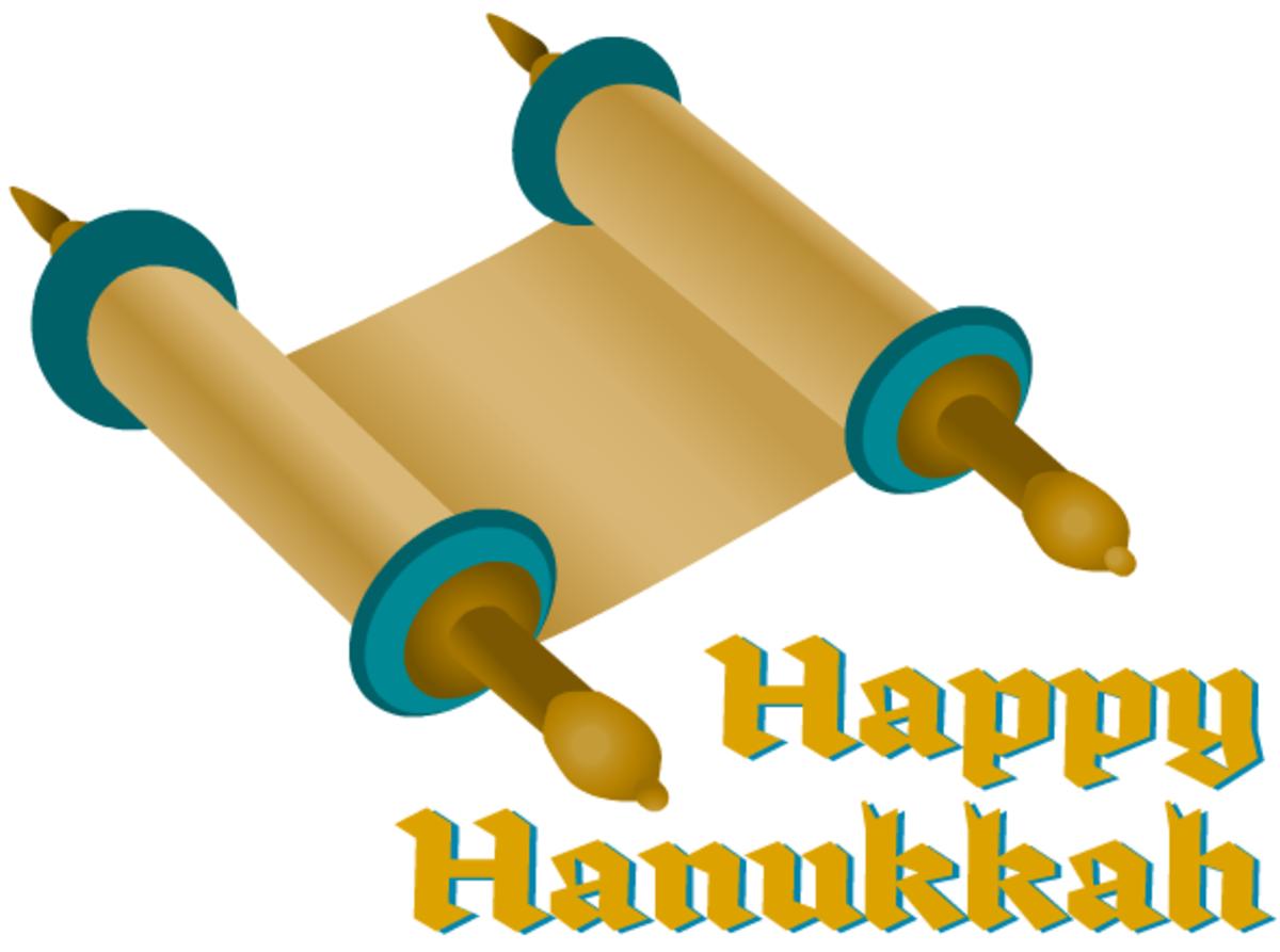 Hanukkah cards: Torah
