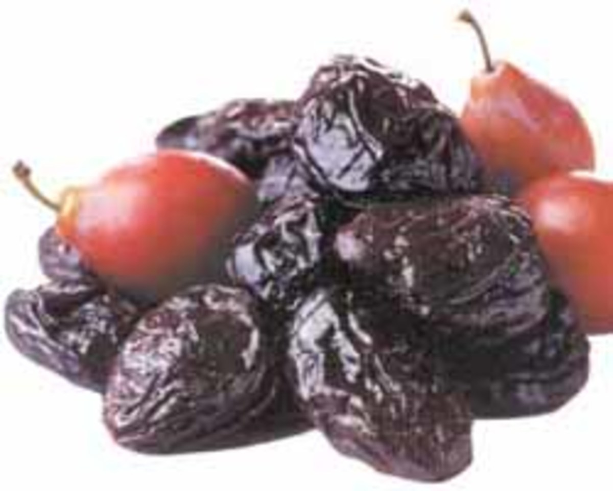 Prunes and plums.
