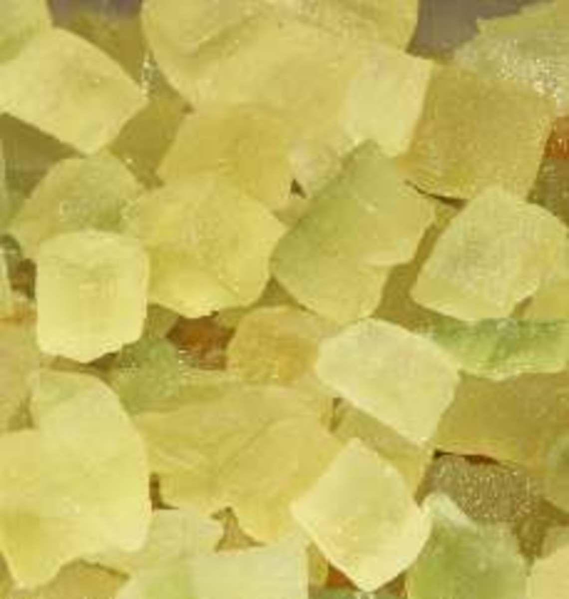 Candied lemon citron.