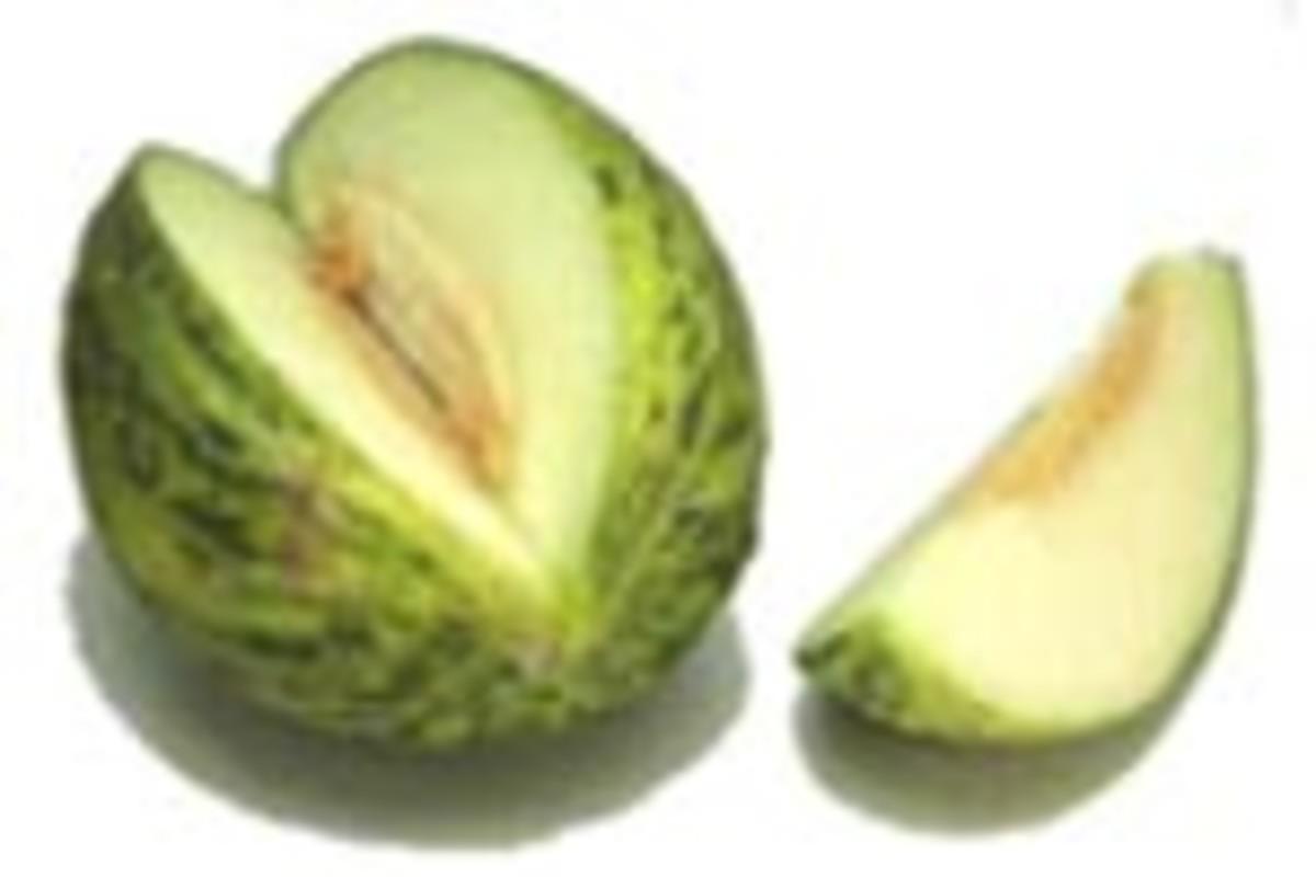 Example of a Santa Claus melon.