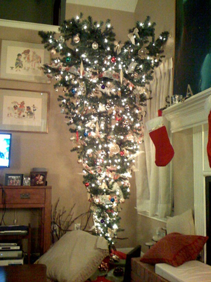 In some traditions, the tree is always arranged upside down. A change in choice of Christmas music can be just as refreshing.