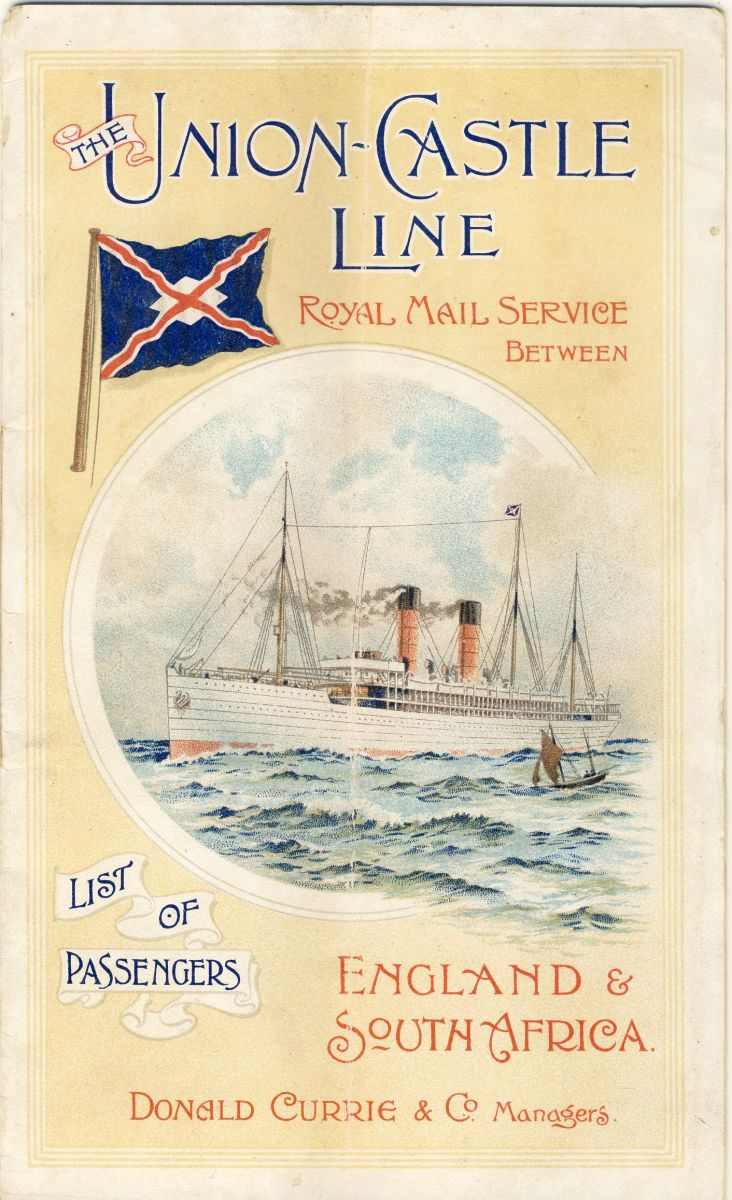 The cover of the passenger list