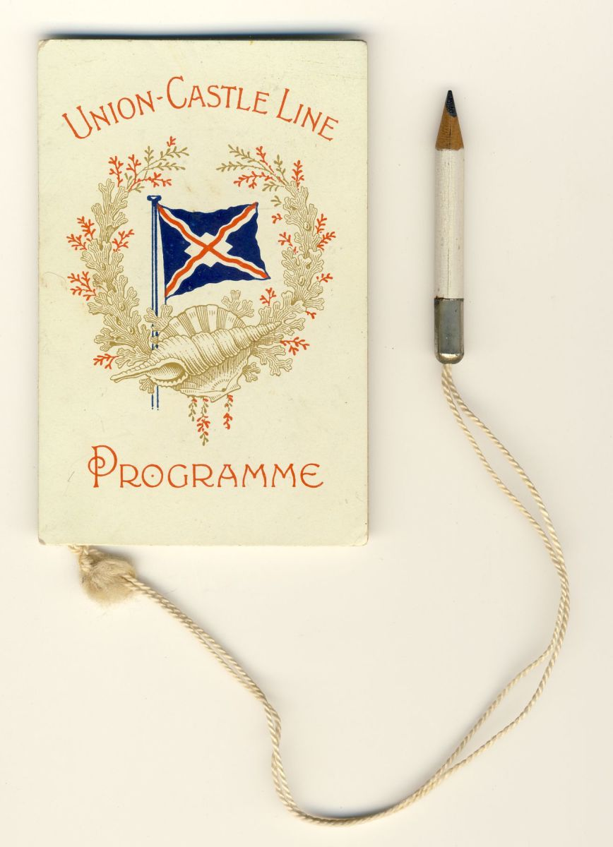 The cover of the fancy dress dance programme for 14 June 1906