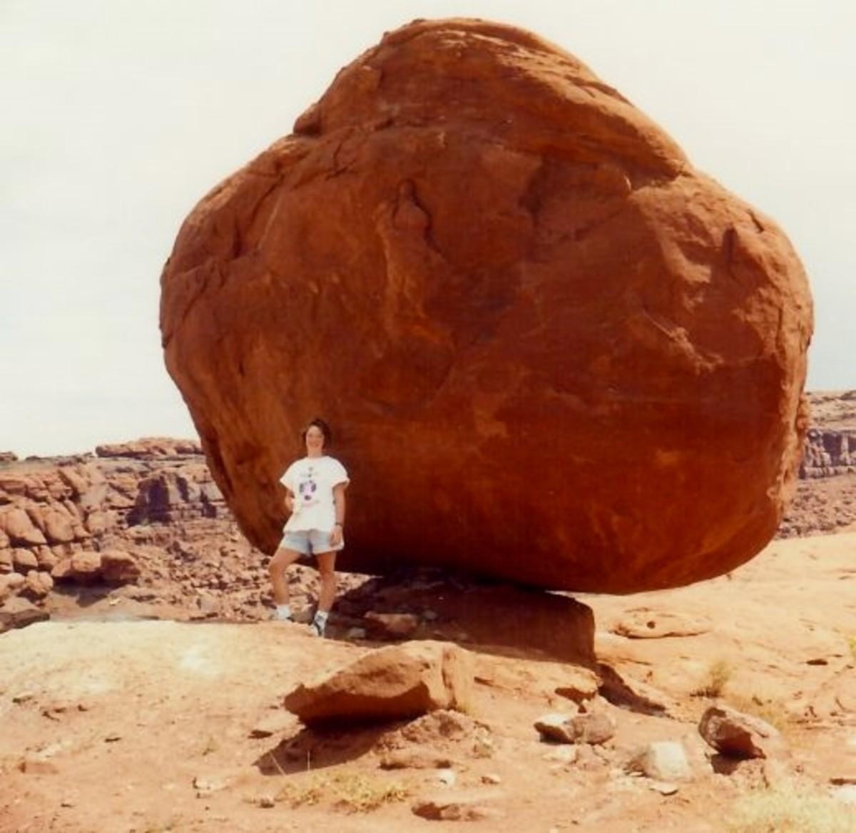 My niece at Balancing Rock