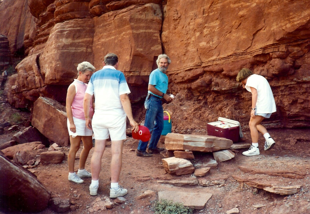 Our guide found a shady spot for lunch that day in Canyonlands National Park.