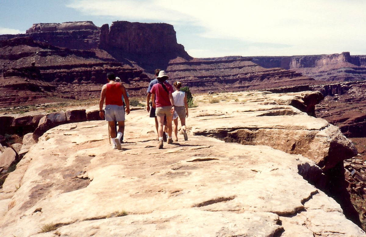 Some of our fellow travelers out on the WALKING ROCKS in Canyonlands National Park.