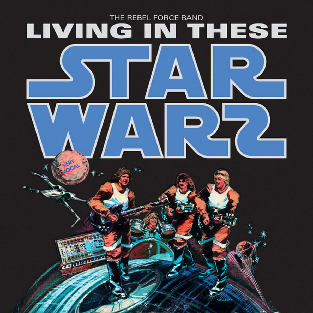 """Rebel Force Band """"Living In These Star Warz""""  Bonwhit Records 12177 12"""" LP Vinyl Record (1977)  US Pressing"""