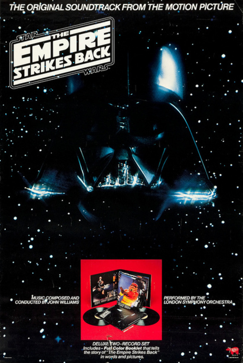 "Star Wars ""The Empire Strikes Back"" RSO Records In-Store Promo Poster (1980) Score Written and Conducted by John Williams"