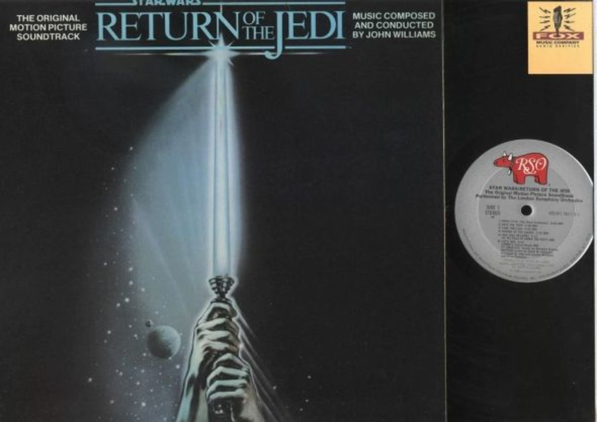 "Star Wars Episode VI ""Return of the Jedi"" RSO Records 422-811767-1  12"" LP Vinyl Record, (1983) Composed & Conducted by John Williams."