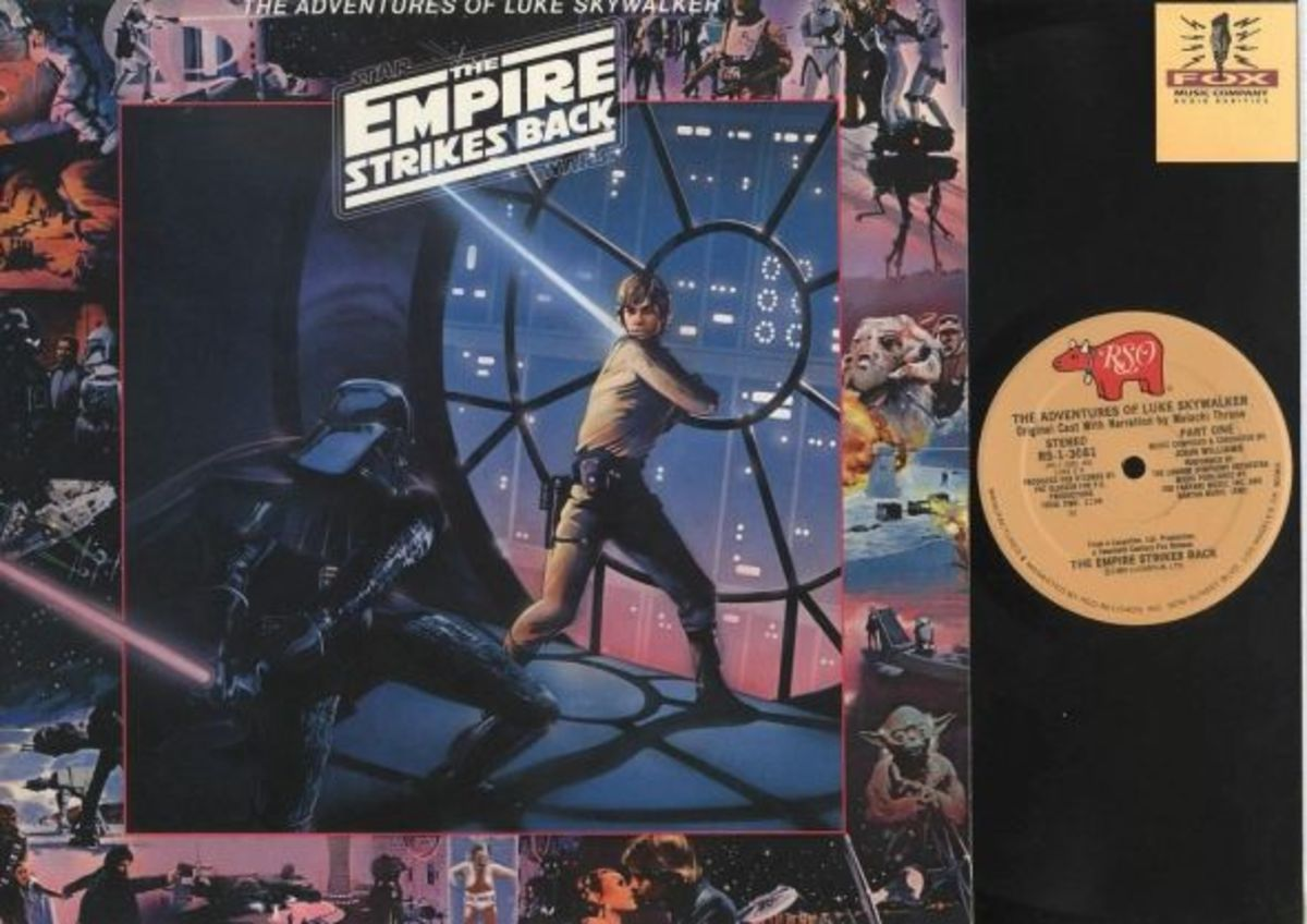 "Star Wars ""Empire Strikes Back"" The Adventures of Luke Skywalker RSO Records RS-1-3081 12"" LP Vinyl Record, US Pressing (1980)"