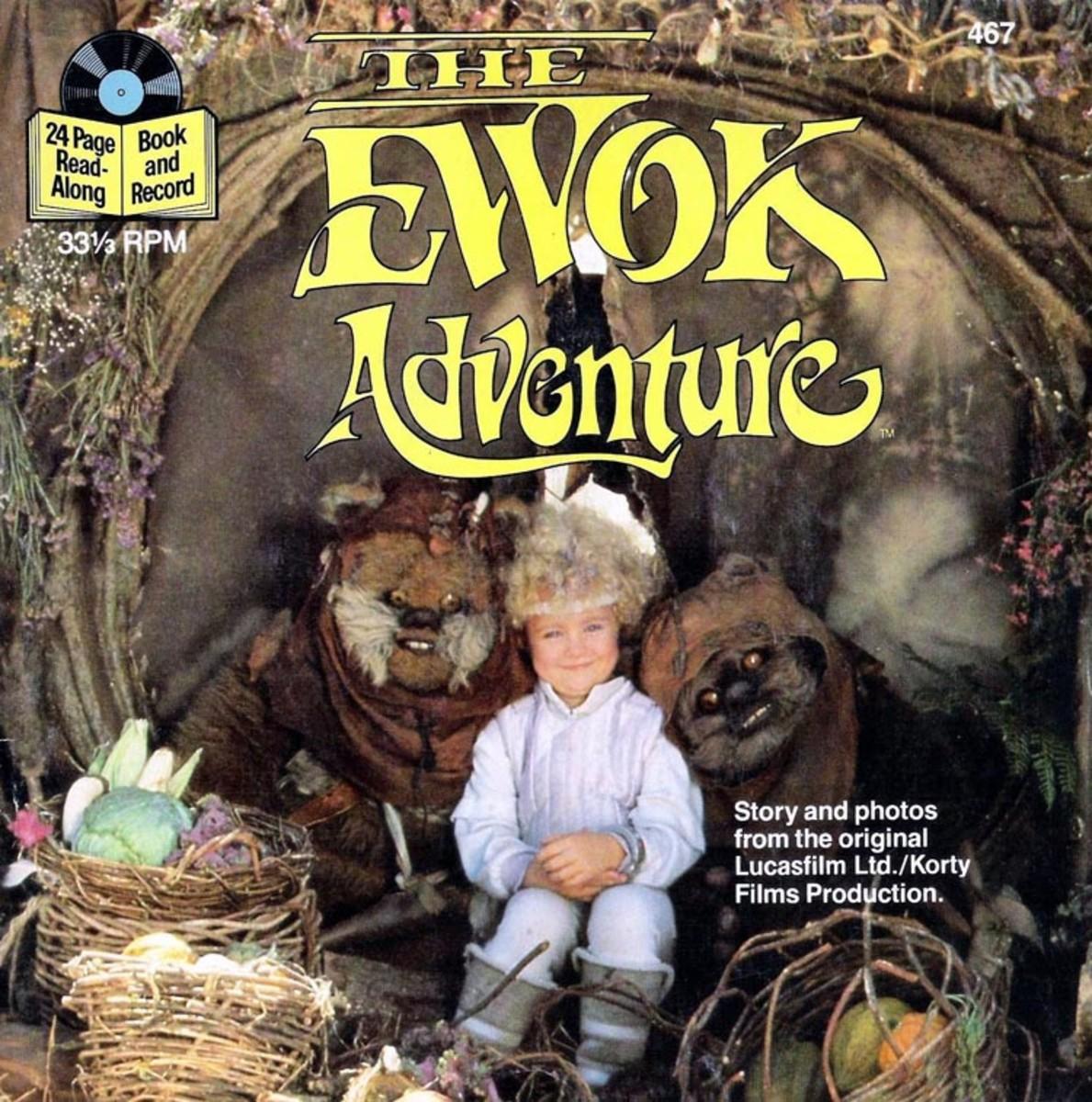 "Star Wars ""The Ewok Adventure"" Buena Vista Records 467 7"" Vinyl US Pressing (1984) 33 1/3 rpm w/ 24 Page Read Along Book"