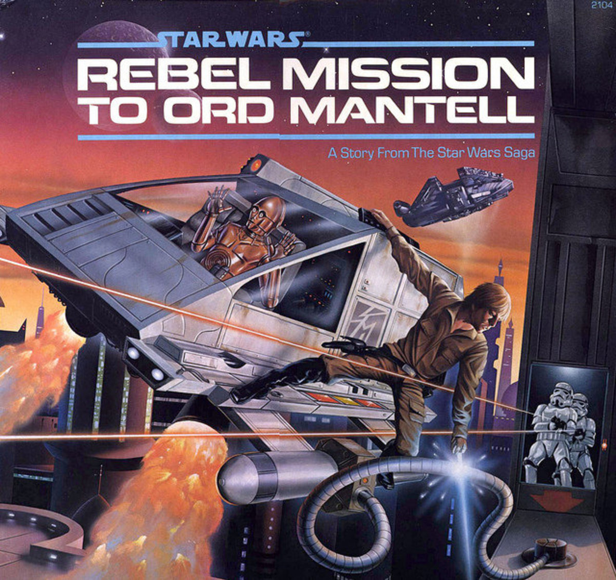 """Star Wars - Rebel Mission To Ord Mantell A Story From The Star Wars Saga Buena Vista Records 2104 12"""" LP Vinyl Record (1983)"""