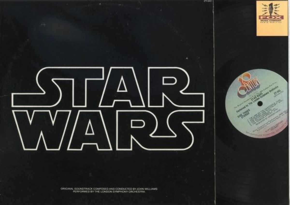 """Star Wars"" Episode IV: A New Hope 1977 20th Century Records 2T-541 2 12"" LP Vinyl Record Set (1977) Soundtrack Composed and Conducted by John Williams Performed by the London Symphony Orchestra"