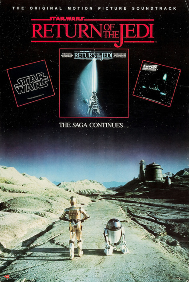 "Star Wars ""Return of the Jedi"" RSO Records Soundtrack (1983) Record Store Promotional Poster"