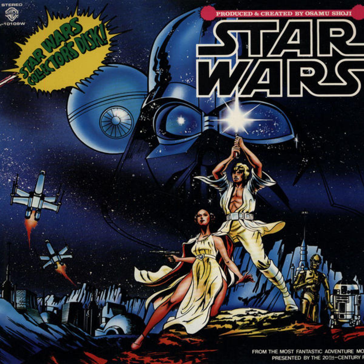 "Osamu Shoji ""Star Wars"" Warner Brothers Records  L-10109W 12"" LP Vinyl Record, Japanese Pressing (1978)"
