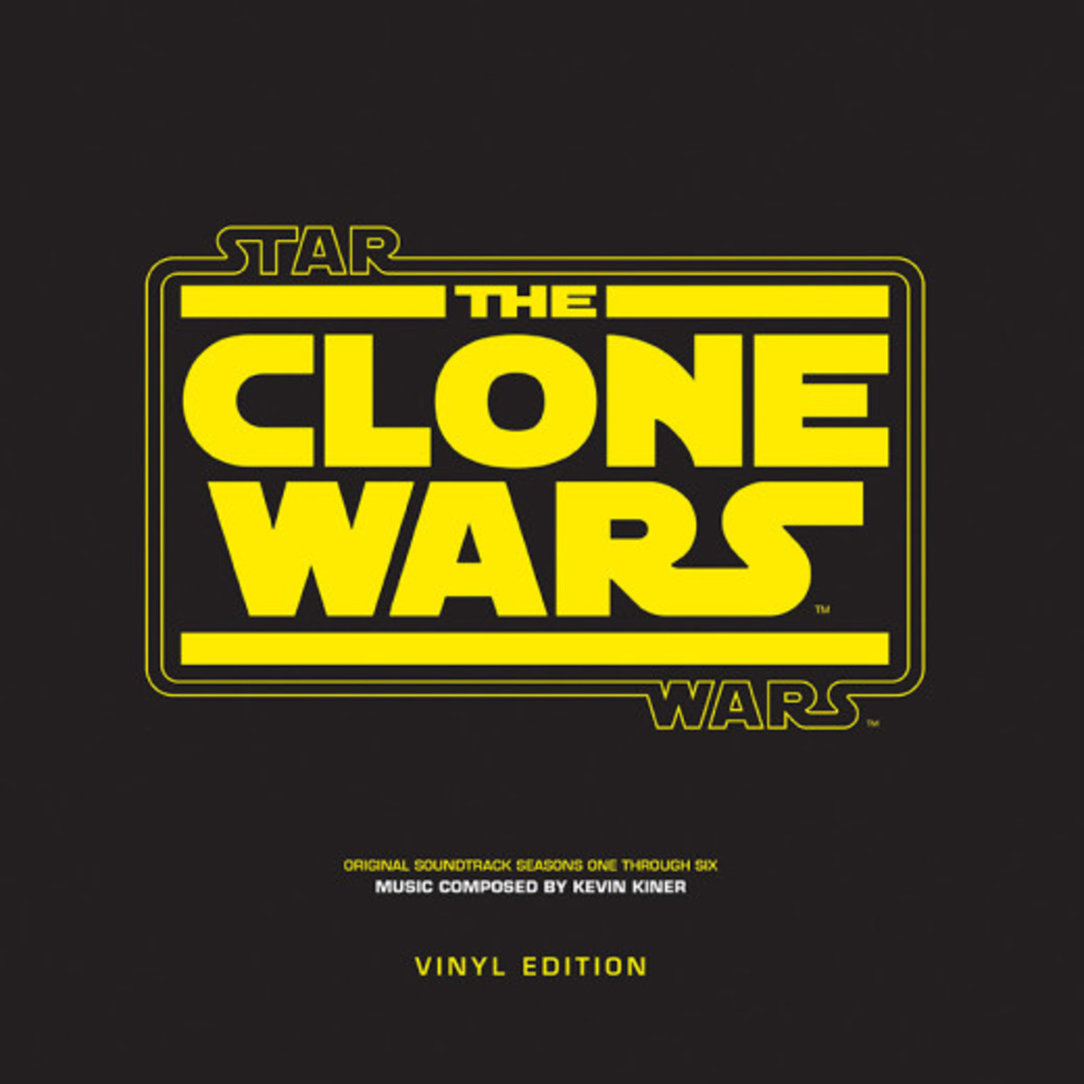"Star Wars ""The Clone Wars"" Walt Disney Records D002113101 12"" LP Vinyl Record, US Pressing (2014) Music Composed by Kevin Kiner"