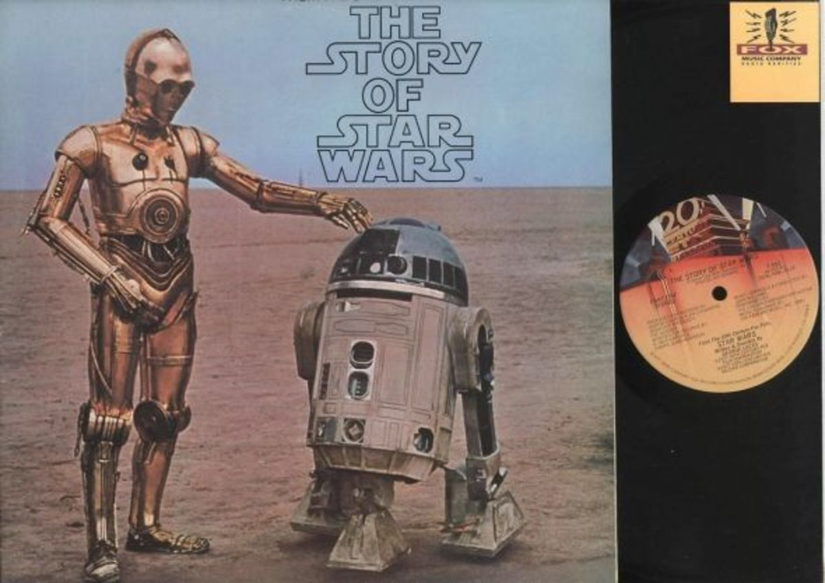 """The Story of Star Wars"" 20th Century Records T-550 12"" LP Vinyl Record (1977) Narrated by Roscoe Lee Brown"