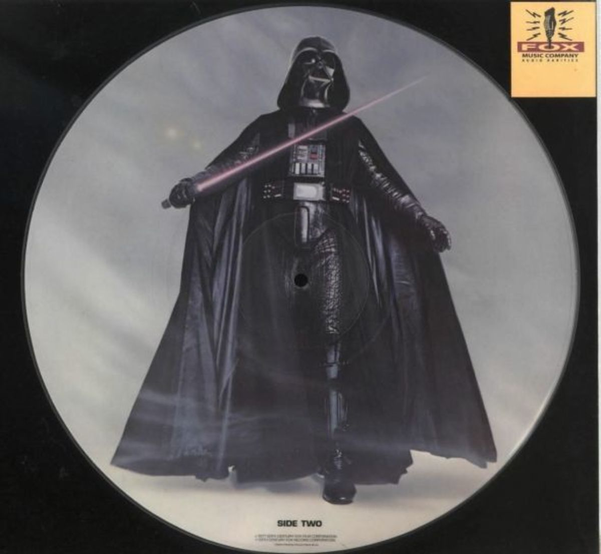 "Star Wars  ""The Story of Star Wars"" 20th Century Fox Records PR 103 12"" Vinyl Picture Disc (1972) Darth Vader Side 2"