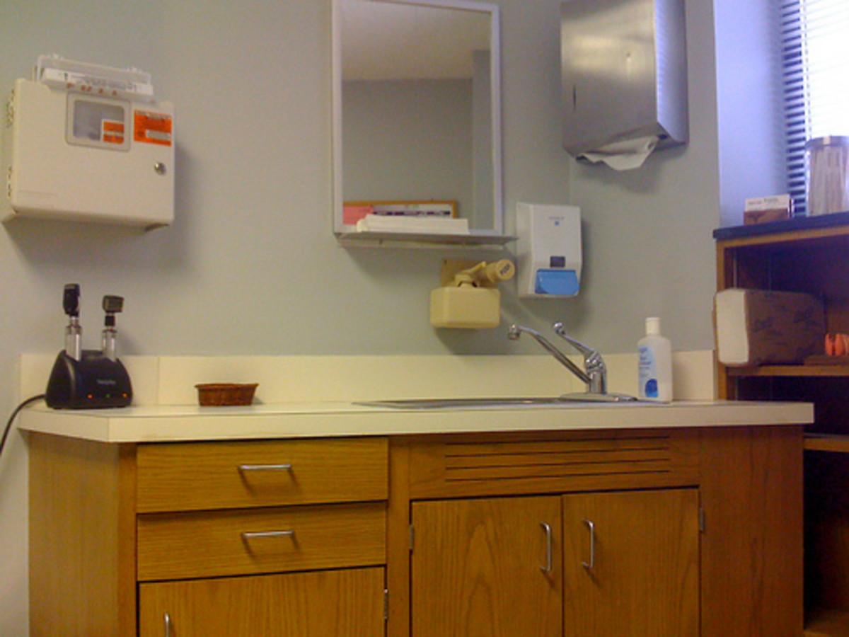 Doctor's patient room