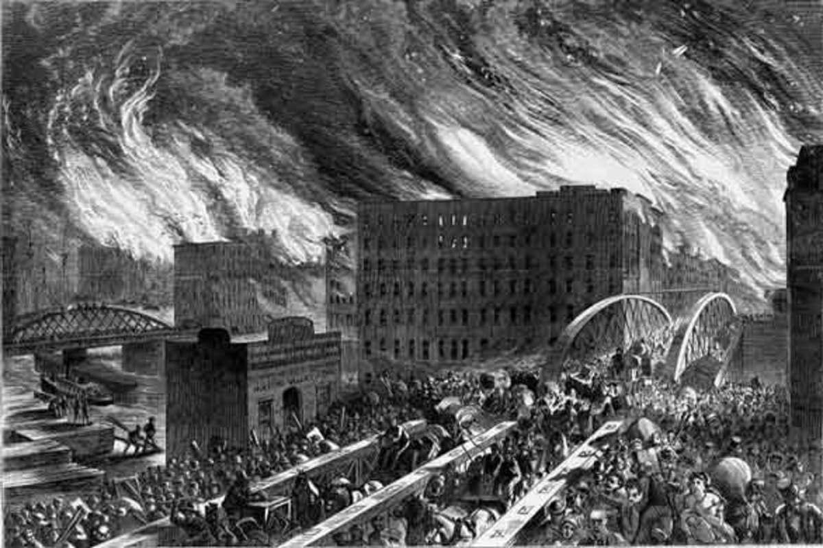 Many people suffered and died in the Great Chicago Fire and many of those peoples ghosts are still said to roam about Chicago.