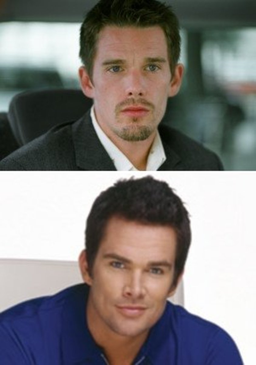 on top is Ethan Hawke; at bottom is Mark McGrath