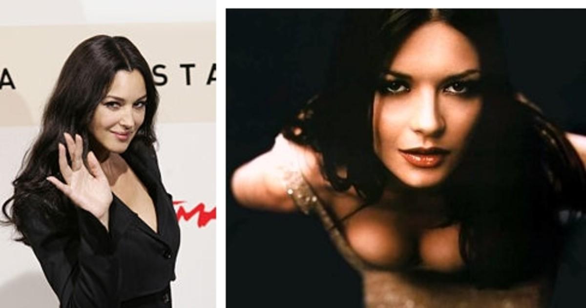 Monica Bellucci left; Catherine Zeta Jones right