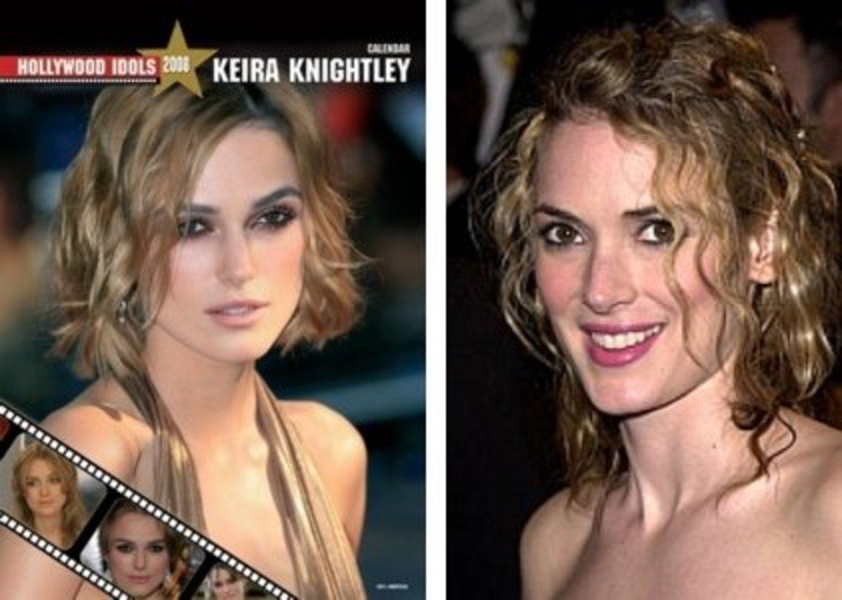 Keira Knightley left; Winona Ryder right