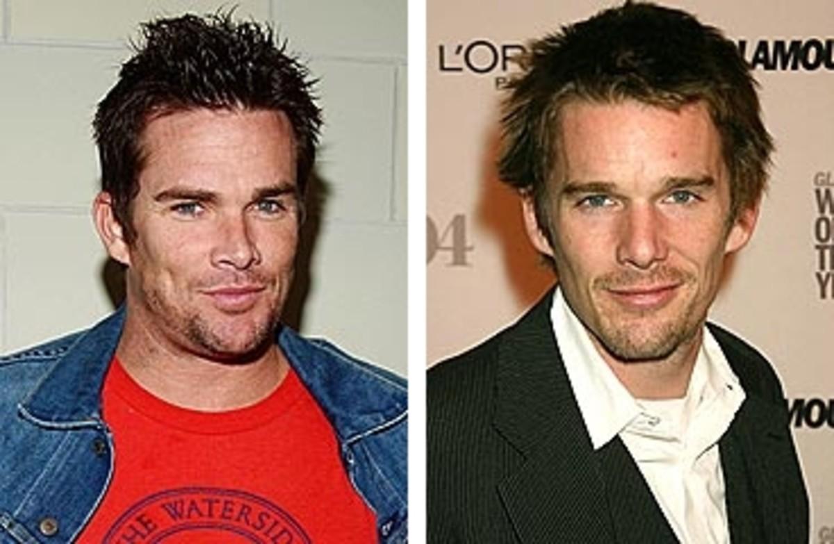 left Mark McGrath; right Ethan Hawke