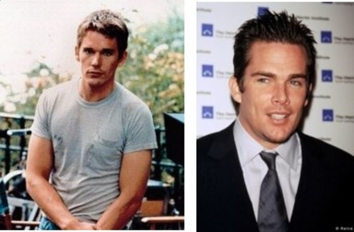 at left is Ethan Hawke; at right is Mark McGrath