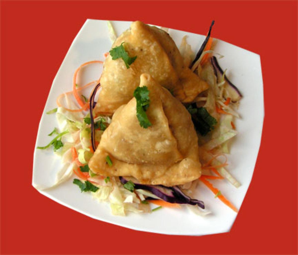 Indian vegetable samosas