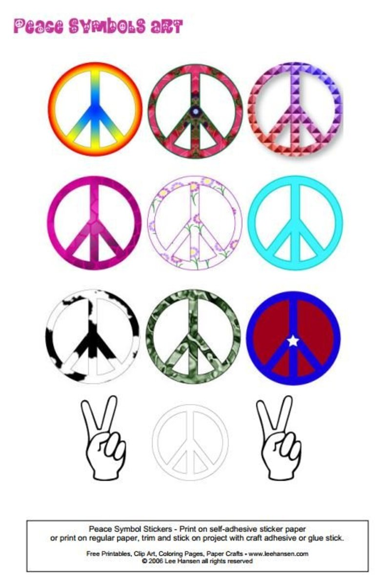 Peace signs, peace symbols sticker poster