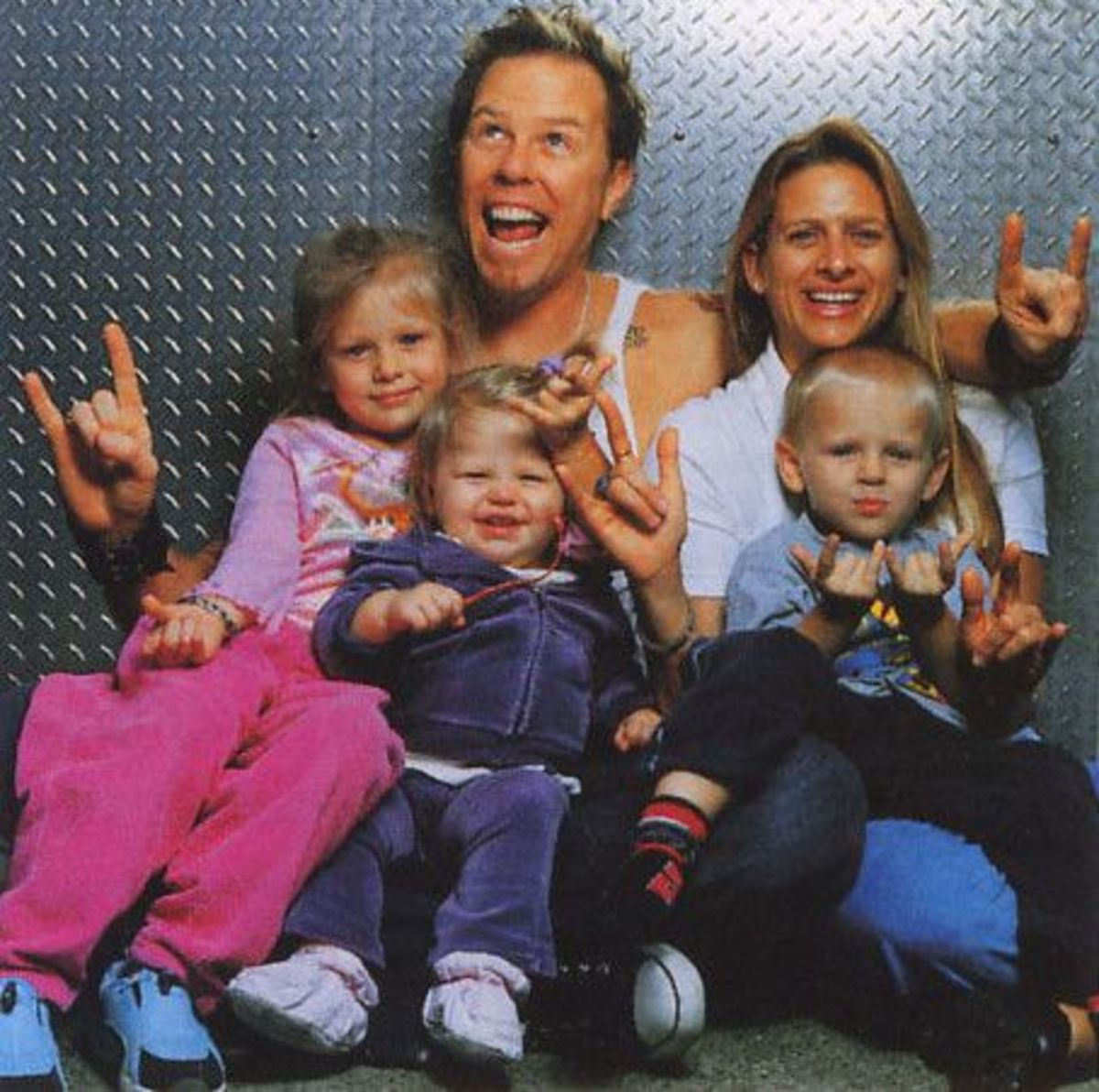 James Hetfield dearly loves his wife and children, and has shown it by changing his life and habits for the better.