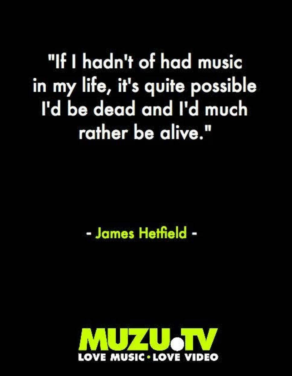 Truth from the man's mouth. Music kept him capable of learning other truths.